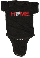 Ohio Home Baseball Onesie - Red/White