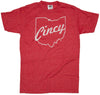 Ohio Tee | Cincy Script | White