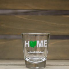 Home Shot Glass Green/White