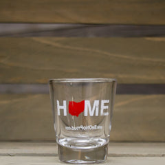 Home Shot Glass Red/White
