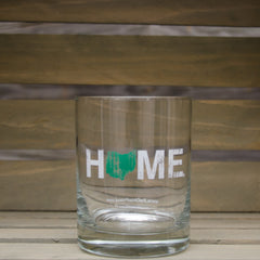 Ohio Home Rocks Glass - Green