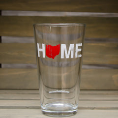 Home Pint Glass Red/White