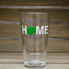 Home Pint Glass Green/White