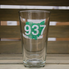 937 Pint Glass - Green/White