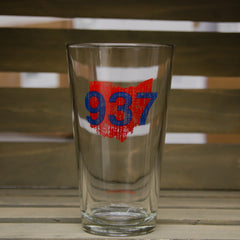 937 Pint Glass - Red/Blue