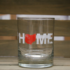 Ohio Home Rocks Glass - Red