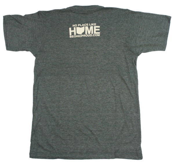 Unisex Home Ohio Orange Tee - Charcoal