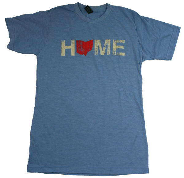 Unisex Home Ohio Red Tee - Athletic Blue