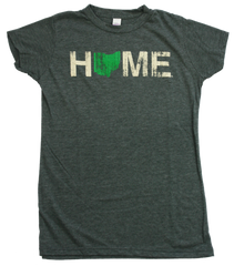 Ladies' Home Ohio Tee - Green/Eggshell