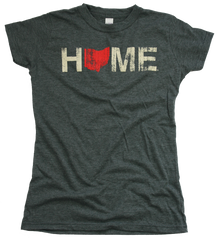 Ladies' Home Ohio Tee - Red/Eggshell