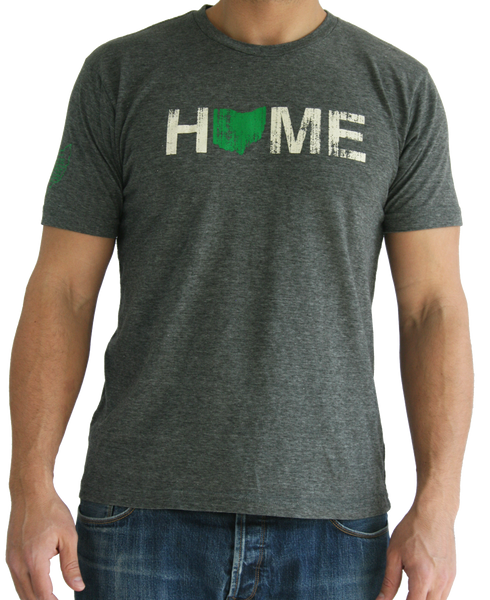 Unisex Home Ohio Tee - Green/Eggshell