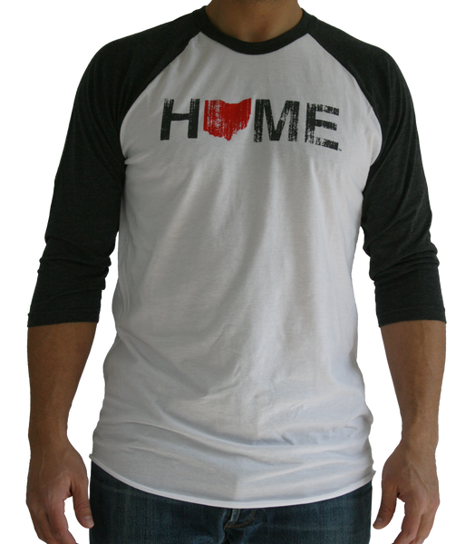 Unisex Home Ohio 3/4 Sleeve Raglan Tee