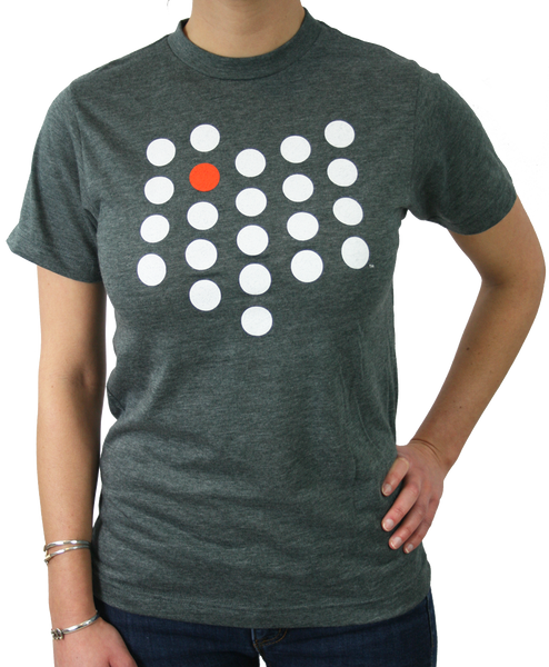 Unisex Bowling Green City/State Dot Tee Charcoal