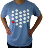 Unisex Cincinnati City/State Dot Tee - Athletic Blue