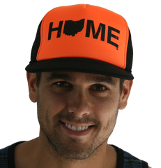 Home Trucker Mesh Hat | Black/Orange