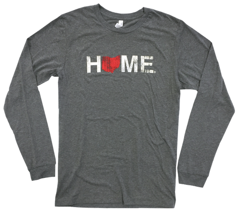 Home Red Long Sleeve Crew Neck