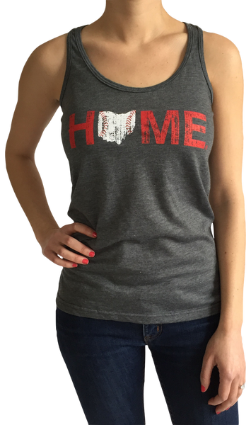 Ohio Home Baseball Ladies' Racerback - Red/White