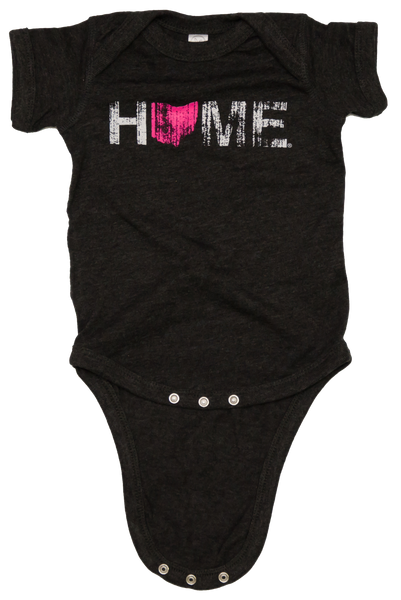 Unisex Ohio Home Pink Onesie - Charcoal