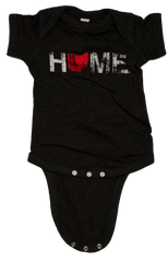 Unisex Home Ohio Red Onesie - Charcoal