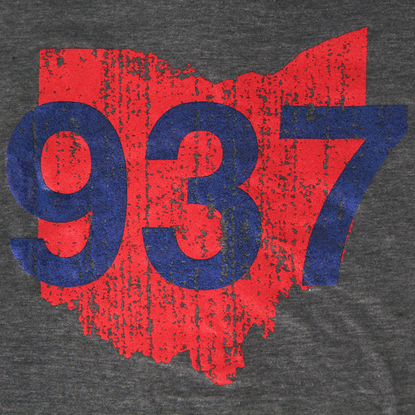 937 Unisex Tee - Red/Blue