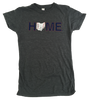 Ohio Home Baseball Ladies' Junior Cut Tee - Navy/Red/White