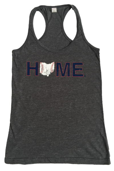 Ohio Home Baseball Ladies' Racerback - Navy/Red/White