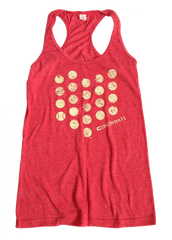 Ladies' Cincinnati Baseball Dots Racerback