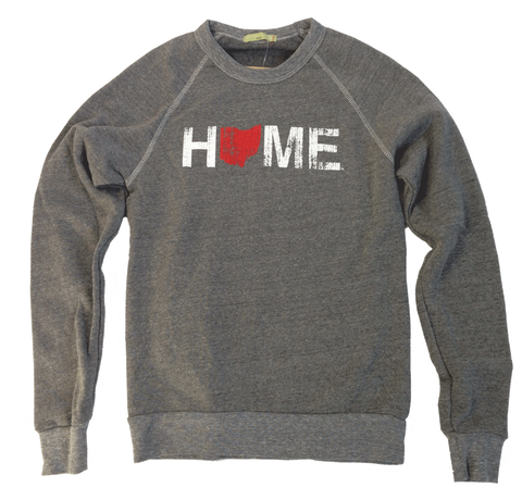 Unisex Crew Neck Home Ohio Red Sweatshirt