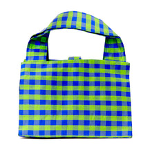 Load image into Gallery viewer, GINGHAM GREEN BLUE LADY BAG