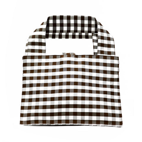GINGHAM BROWN LADY BAG