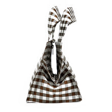Load image into Gallery viewer, GINGHAM BROWN LADY BAG