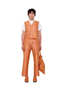 Gingham Red Yellow Vest