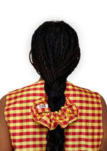 Load image into Gallery viewer, Gingham Red Yellow Scrunchie