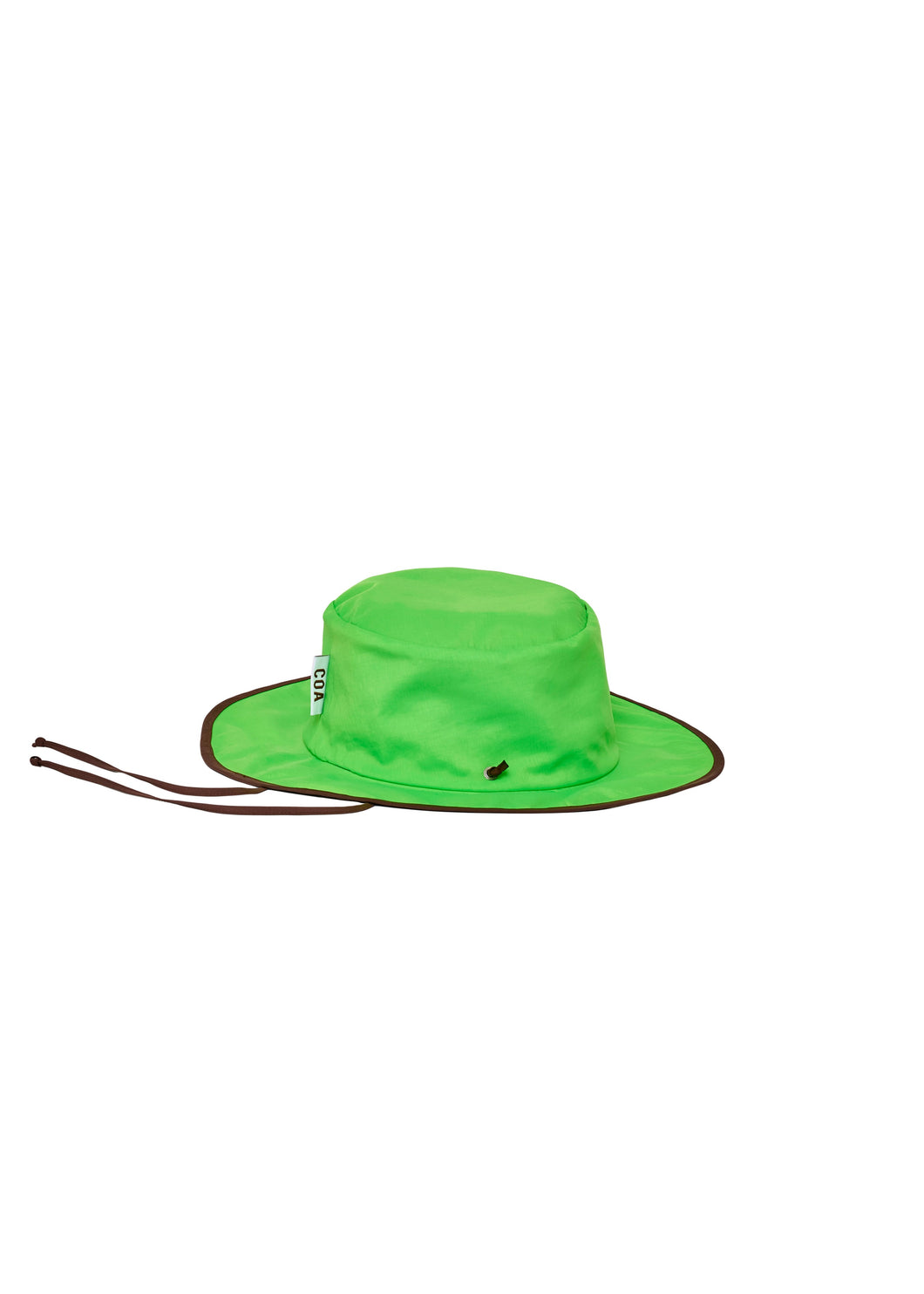 Reversible Chocolate + Lime Nylon Foldable Hat