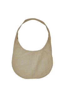 Gingham Black Yellow Hobo Crossbody