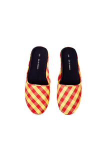 Gingham Red Yellow Slipper