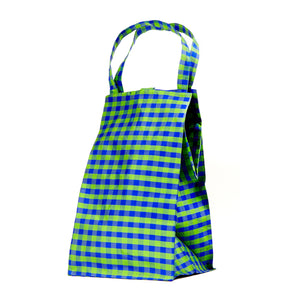 XL GINGHAM LIME BLUE EVERYDAY BAG
