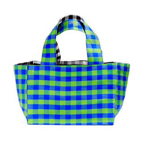 GINGHAM REVERSIBLE MINI TOTE