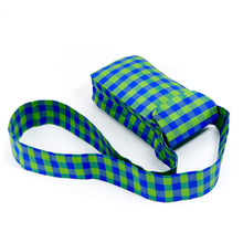 Load image into Gallery viewer, GINGHAM LIME BLUE IPHONE CROSSBODY
