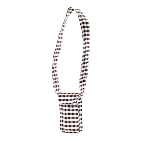 GINGHAM BROWN IPHONE CROSSBODY