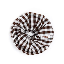 Load image into Gallery viewer, GINGHAM BROWN OVERSIZED SCRUNCHIE