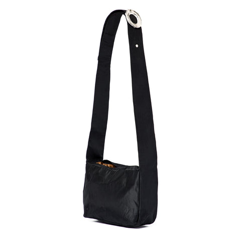 BLACK SILK CROSSBODY