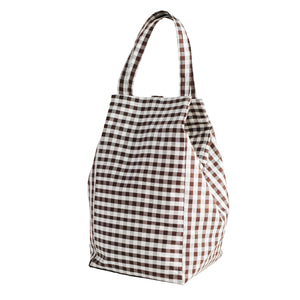 XL GINGHAM BROWN EVERYDAY BAG