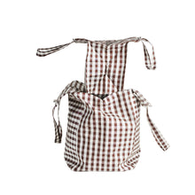 Load image into Gallery viewer, XL GINGHAM BROWN EVERYDAY BAG