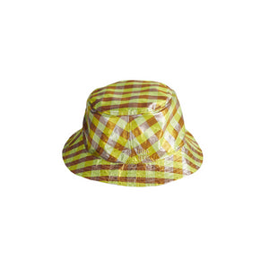 REVERSIBLE IRIDESCENT YELLOW + NAVY HAT