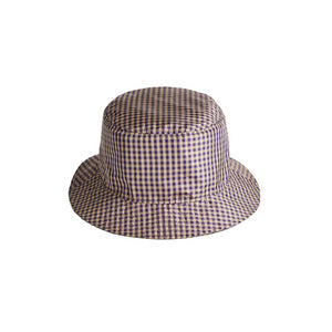REVERSIBLE PURPLE + GREEN GINGHAM HAT