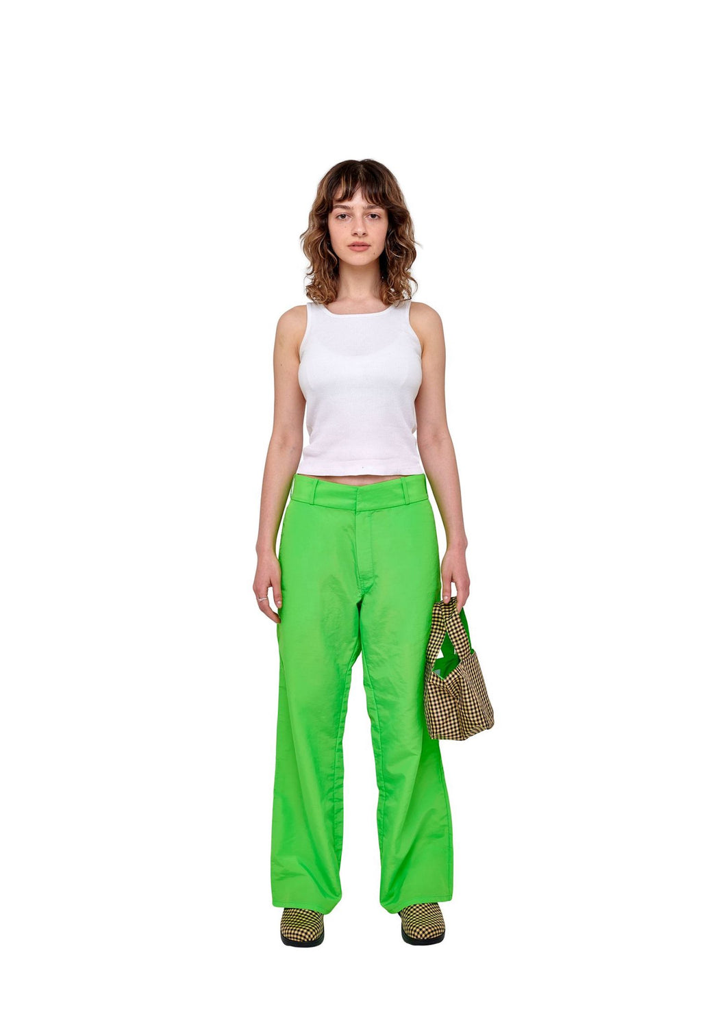 Lime Nylon Pants