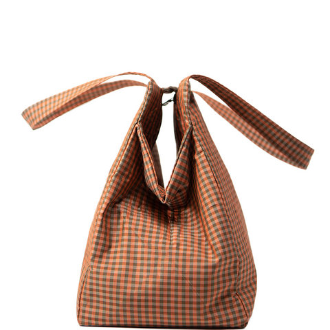 GINGHAM ORANGE EVERYDAY BAG