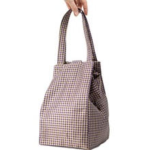 Load image into Gallery viewer, GINGHAM PURPLE EVERYDAY BAG