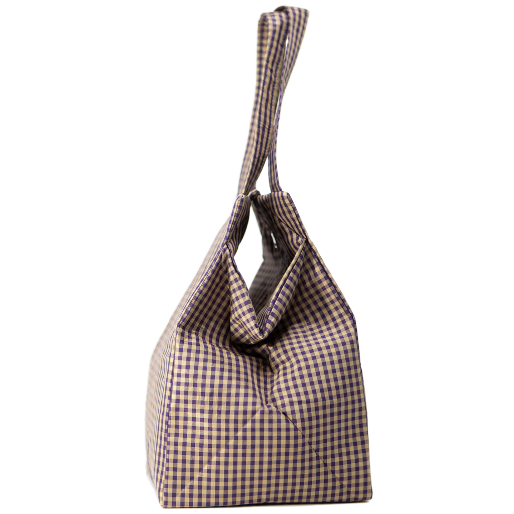 GINGHAM PURPLE EVERYDAY BAG